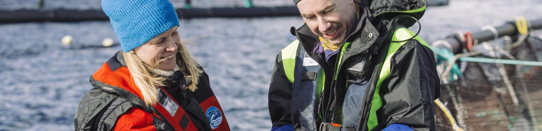 Lakseoppdrett.  Foto: Marius Fiskum © Norges sjømatråd